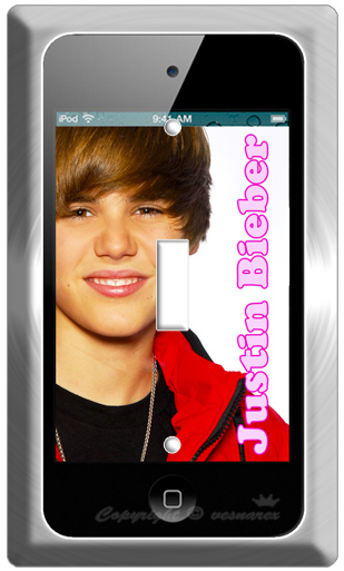 New Ipod Touch 4 Justin Bieber Single Light Switch Wall