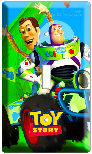 Toy Story Led Wall Light : DISNEY TOY STORY 3 RACING WOODY & BUZZ LIGHTYEARS SINGLE LIGHT SWITCH WALL PLATE eBay