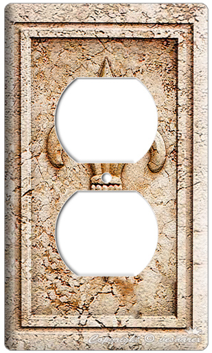 Decorative Wall Plates For Electrical Outlets : Royal fleur de lis electrical outlet wall plate cover