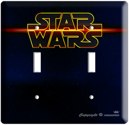 Star Wars Logo Emblem Double Light Switch Cover Plate