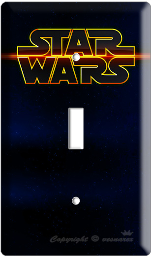 Star Wars Logo Emblem Single Light Switch Cover Plate